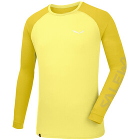 Salewa Pedroc Delta Dry - T-shirt manches longues Homme - jaune